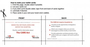 Care Act Wallet Card Front